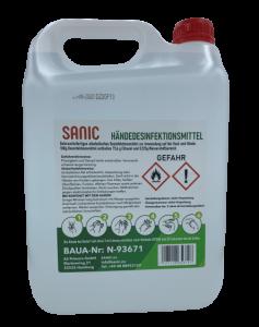 Händedesinfektionsmittel SANIC 5 Liter - FOTO