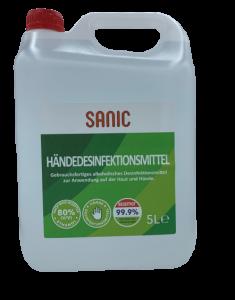 Händedesinketionsmittel 5 Liter Kanister SANIC - FOTO