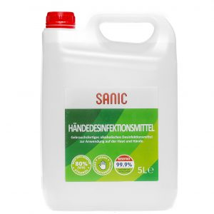 SANIC Händedesinfektionsmittel 5 Liter1 - FOTO