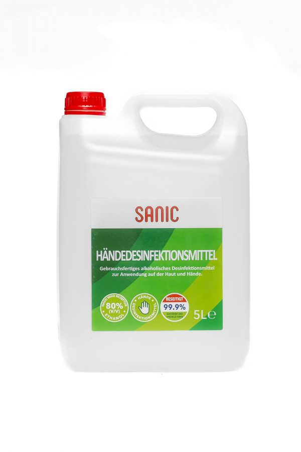 SANIC Händedesinfektionsmittel 5 Liter1-min