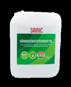 SANIC Premium Händedesinfektionsmittel 5Liter KANISTER- FOTO