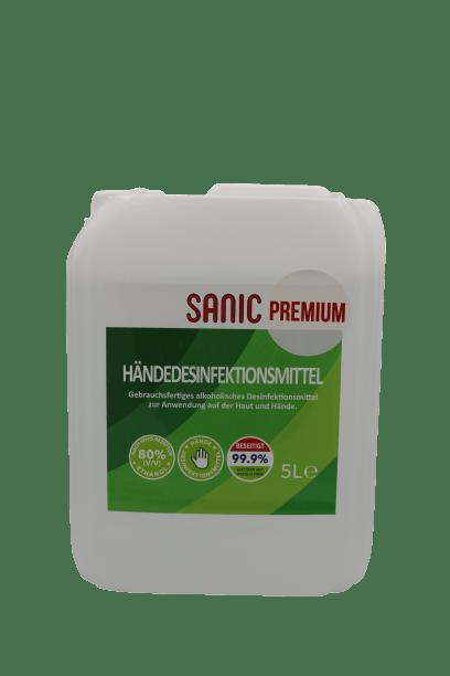 SANIC Premium Händedesinfektionsmittel 5Liter4