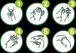 so desinfiziert man die Hände - FOTO