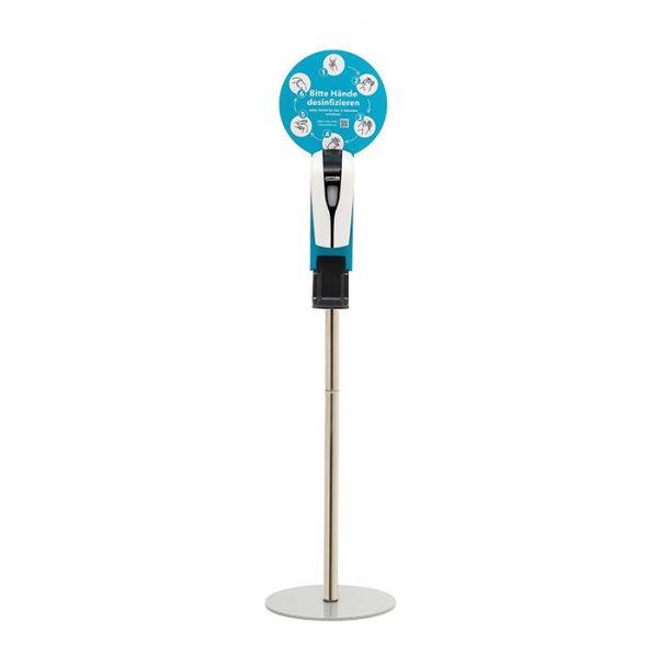 SANIC Desinfektionssäule mit Sensor Ständer aus Edelstahl & Spender