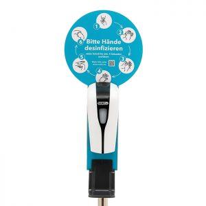 SANIC Desinfektionssäule mit Sensor Ständer aus Edelstahl & Spender1 - FOTO