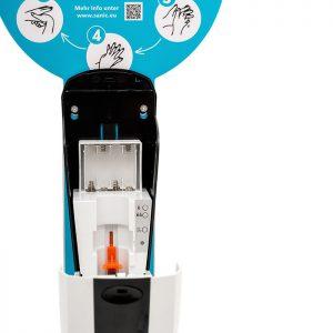 SANIC Desinfektionssäule mit Sensor Ständer aus Edelstahl & Spender10 - FOTO