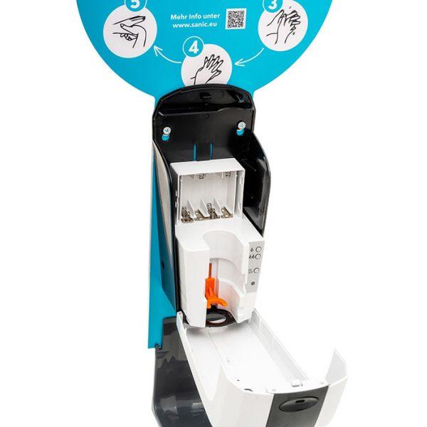 SANIC Desinfektionssäule mit Sensor Ständer aus Edelstahl & Spender11
