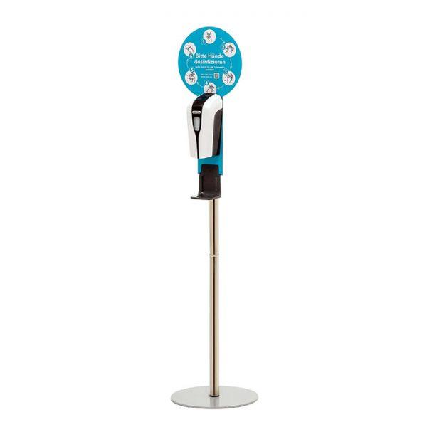 SANIC Desinfektionssäule mit Sensor Ständer aus Edelstahl & Spender2