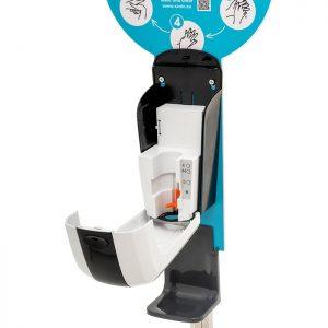 SANIC Desinfektionssäule mit Sensor Ständer aus Edelstahl & Spender6 - FOTO