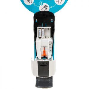 SANIC Desinfektionssäule mit Sensor Ständer aus Edelstahl & Spender9 - FOTO