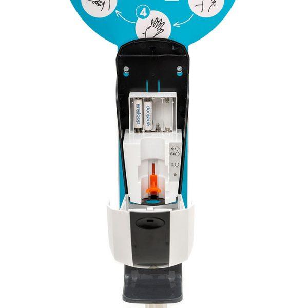 SANIC Desinfektionssäule mit Sensor Ständer aus Edelstahl & Spender9