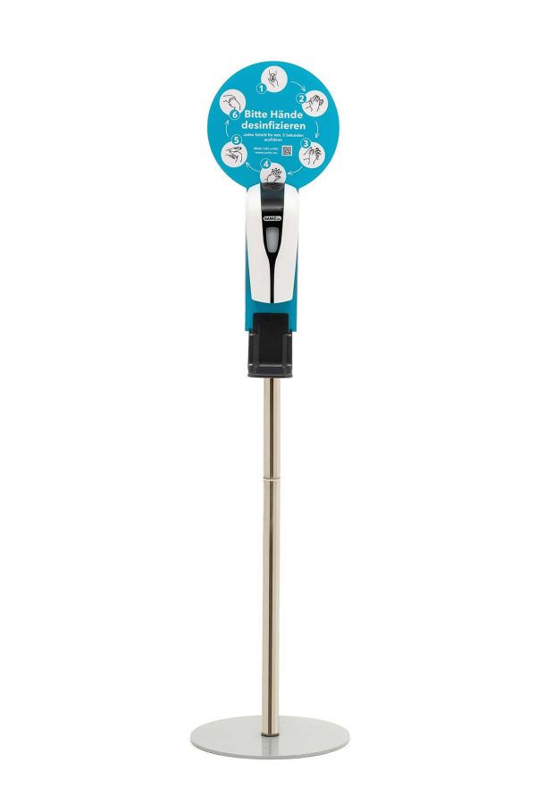 SANIC Desinfektionssäule mit Sensor Ständer aus Edelstahl & Spender8