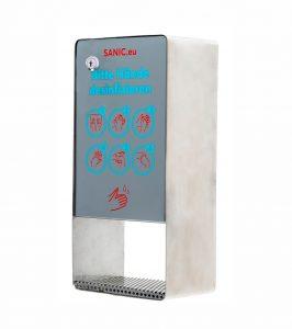 SANIC Desinfektionsspender aus Edelstahl mit Sensor - hande-desinfektion.shop 1 - FOTO