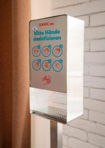 SANIC Desinfektionssäule aus Edelstahl Touchless (Matt)4 - FOTO