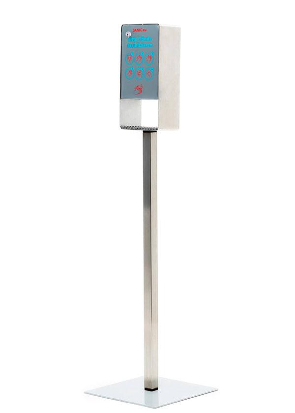 SANIC Desinfektionssäule aus Edelstahl mit Sensor