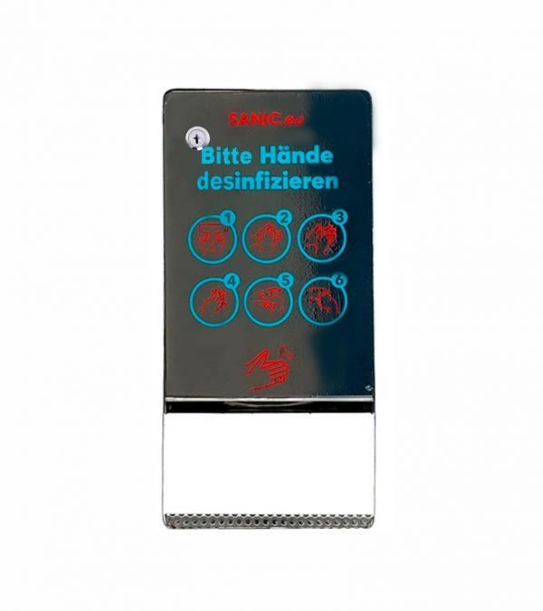 SANIC Edelstahl Desinfektionsspender mit Sensor (Glänzend)