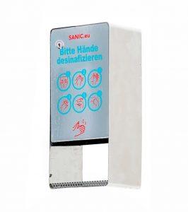SANIC Edelstahl Desinfektionsspender mit Sensor (Glänzend) 2 - FOTO