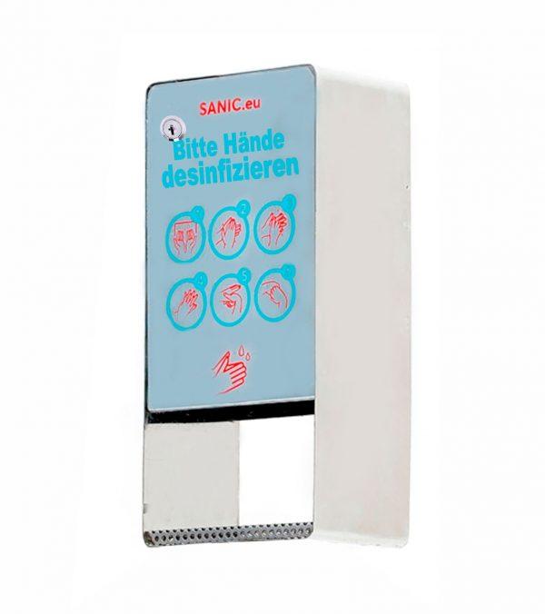 SANIC Edelstahl Desinfektionsspender mit Sensor – Glänzen 1