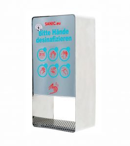 SANIC Desinfektionsspender aus Edelstahl mit Sensor 1 - FOTO