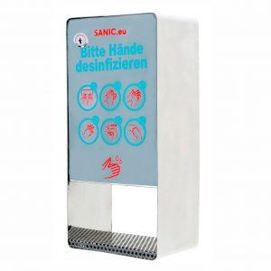 SANIC Edelstahl Desinfektionsspender mit Sensor - Glänzend - FOTO