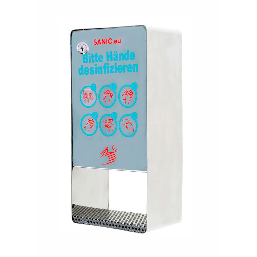 SANIC Edelstahl Wand-Desinfektionsspender mit Sensor (B-Ware)