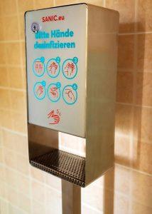 SANIC Desinfektionssäule aus Edelstahl Touchless (Matt)1 - FOTO
