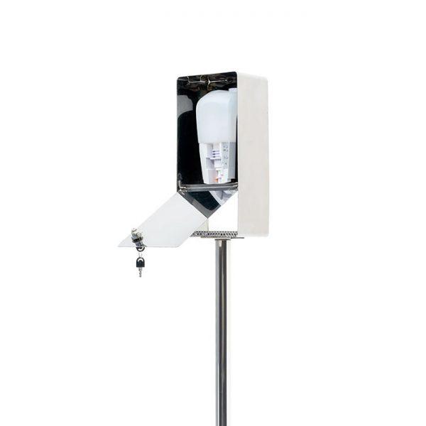 Edelstahl Desinfektionssäule mit Sensor (Glänzend)3