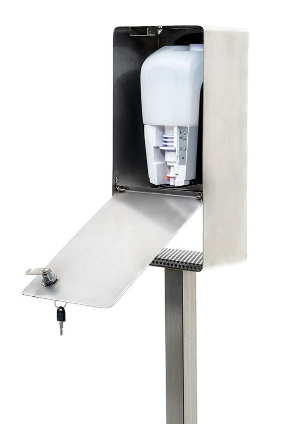 SANIC Desinfektionssäule aus Edelstahl mit Sensor (B-Ware)