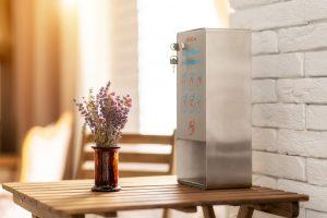 SANIC Desinfektionsspender aus Edelstahl mit Sensor - hande-desinfektion.shop - FOTO