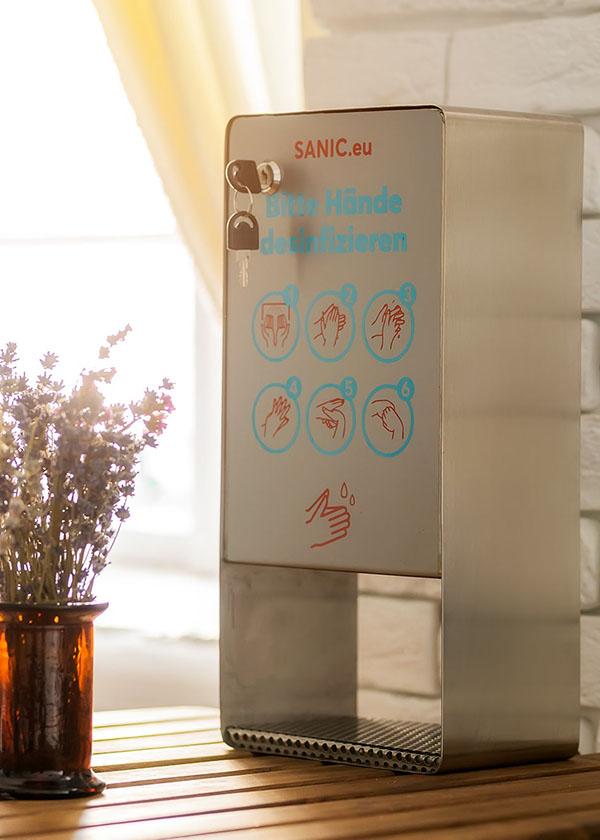 SANIC Edelstahl Wand-Desinfektionsspender mit Sensor