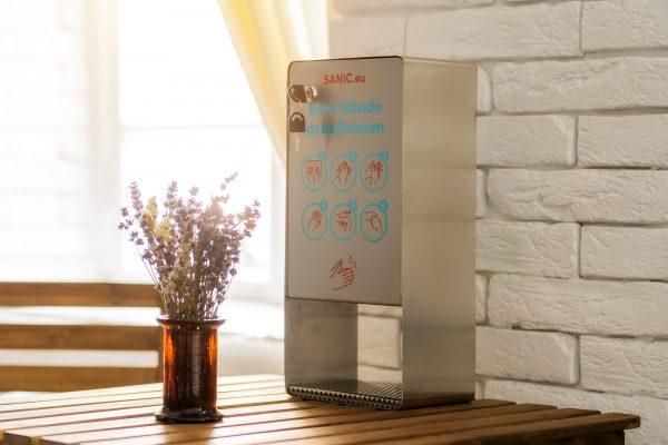 SANIC Desinfektionsspender aus Edelstahl mit Sensor!