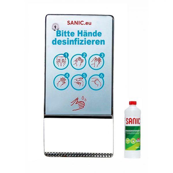 SANIC Desinfektionsspender aus Edelstahl mit Sensor