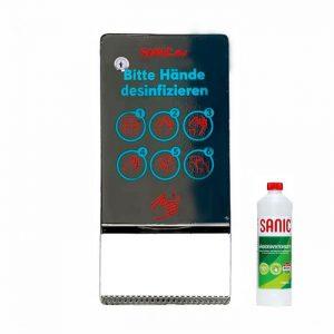 SANIC Edelstahl Desinfektionsspender mit Sensor (Glänzend) - FOTO