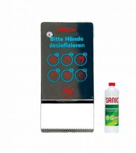 SANIC Edelstahl Desinfektionsspender mit Sensor (Glänzend1) - FOTO