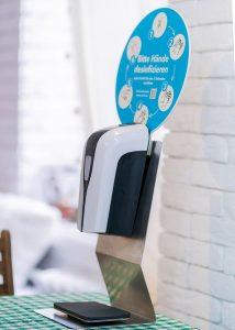SANIC Tisch-Desinfektionsspender mit Sensor - hande-desinfektion 5 - FOTO