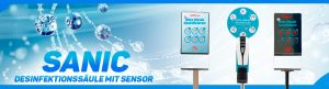 SANIC Desinfektionssäule mit Sensor - FOTO