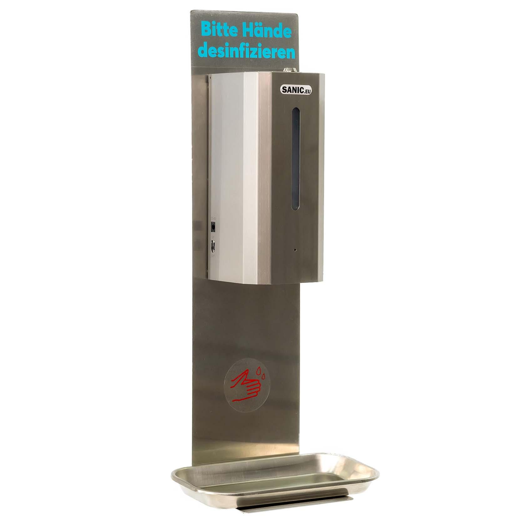 SANIC Wand-Desinfektionsspender aus Edelstahl mit Sensor
