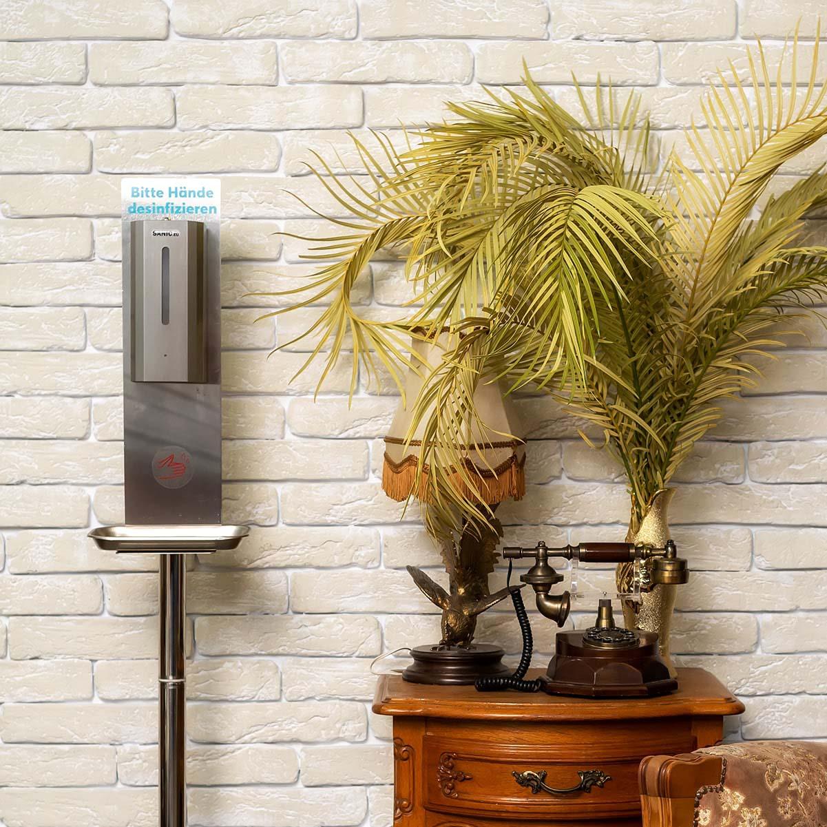 Desinfektionssäule aus Edelstahl mit Sensor – SANIC