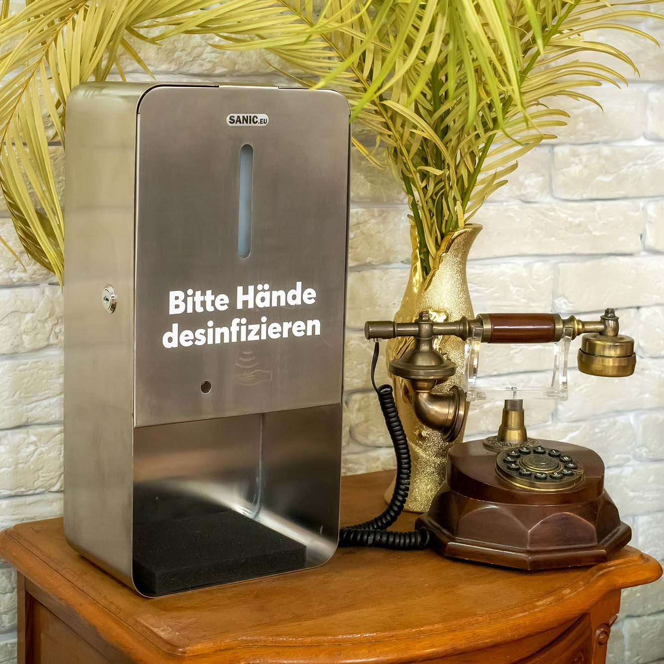 SANIC Edelstahl Tisch-Desinfektionsstation mit Sensor