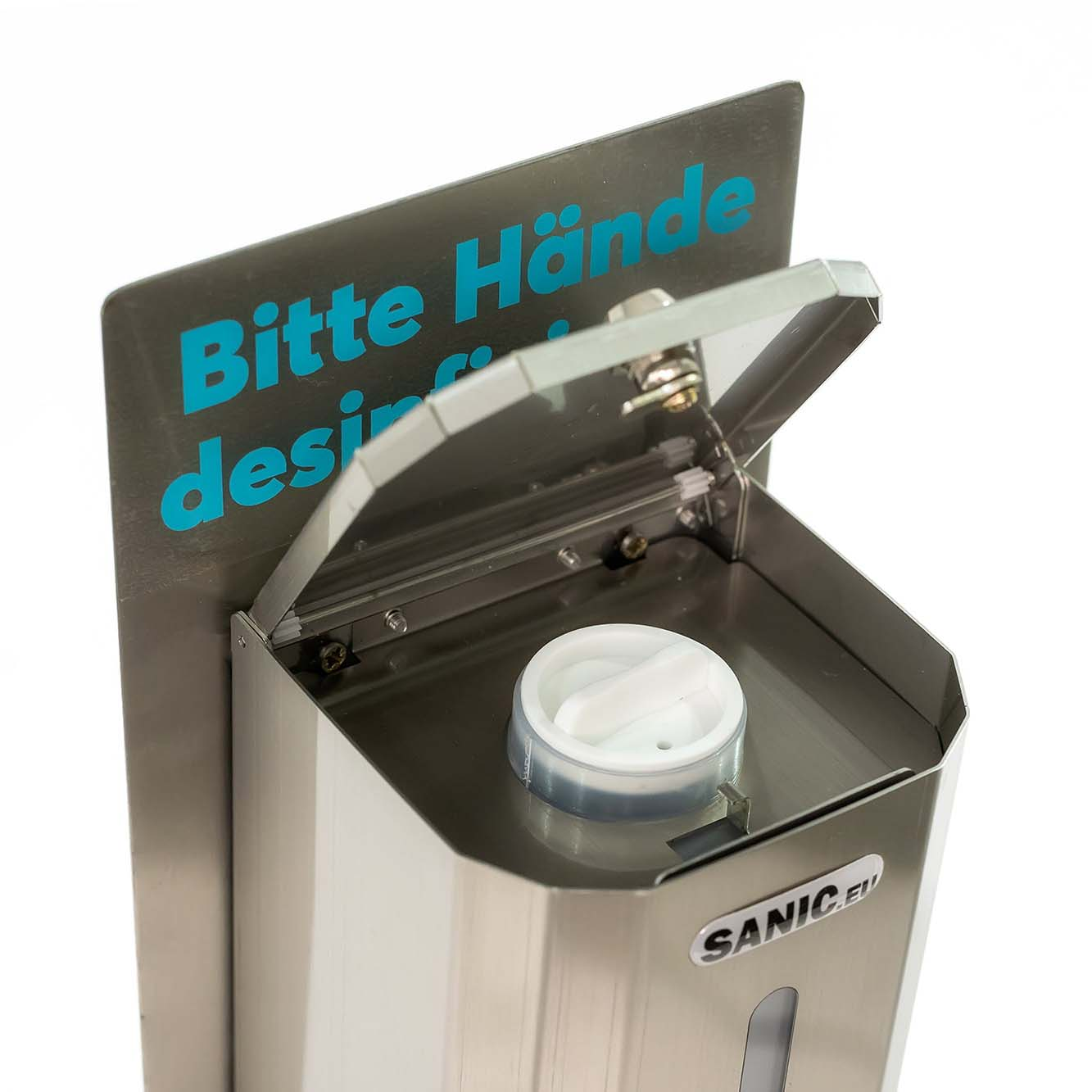 Desinfektionsspender aus Edelstahl mit Sensor